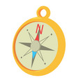 compass icon cartoon style vector image