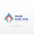 abstract diamond shape line background vector image