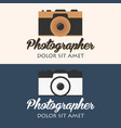 photographer logo camera logo logotype photo vector image