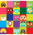 Set of funny characters vector image