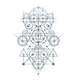 abstract geometrical composition vector image vector image