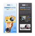 action camera vertical banners set vector image vector image