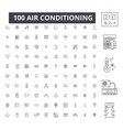 air conditioning editable line icons 100 vector image vector image