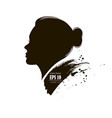 beautiful female logo profile vector image