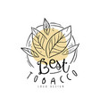 best tobacco logo hand drawn design element can vector image vector image