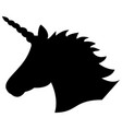 black shape silhouette of the magical unicorn vector image