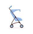 blue bacarriage safe handle transportation of vector image vector image