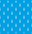 bottle of beer pattern seamless blue vector image