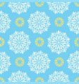 bright mandala pattern in blue white vector image vector image