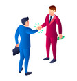 business bribery icon isometric style vector image
