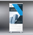 business rollup standee banner design template vector image