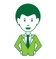 cartoon businessman icon vector image