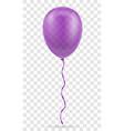 celebratory purple transparent balloon pumped vector image vector image