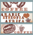 coffee backgrounds set vector image vector image
