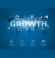 creative infographic business growth vector image vector image