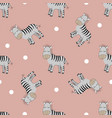 cute zebras seamless patern vector image vector image