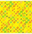 Doodles seashells background seamless pattern vector image