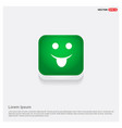 emoji icon green web button vector image
