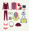 flat clothes icon fashion clothes vector image vector image