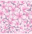 floral element seamless background vector image vector image