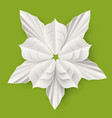 flower with leaves made of paper sheet isolated vector image vector image