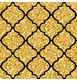 Golden Tile Glitter Background - Seamless Pattern vector image