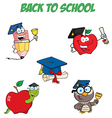 Graduation Cartoon Character-Collection vector image vector image