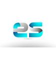 grey blue alphabet letter es e s logo 3d design vector image vector image