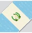 Guatemalan grunge flag vector image vector image