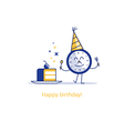 Happy birthday party time event celebration piece vector image vector image