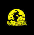 happy halloween hand drawn wizard and text vector image vector image
