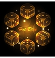 Hot dice background vector image vector image