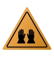 industrial protection gloves icon sign vector image