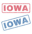 iowa textile stamps vector image vector image