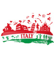 italian ink background vector image vector image