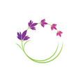 lavender flower logo symbol template vector image vector image