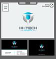 logo hi tech concept for technology vector image