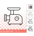 meat grinder simple black line icon vector image vector image