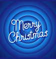 merry christmas movie ending screen blue vector image