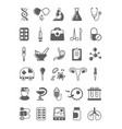 modern medicine black and white glyph icons set vector image vector image