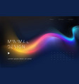 moving colorful abstract background dynamic neon vector image
