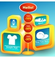 Offer for clients vector image