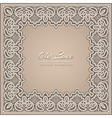 Old lace frame vector image vector image