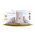 Powerful nuclear reactor vector image vector image