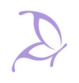 purple butterfly logo template vector image vector image
