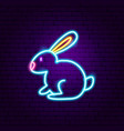rabbit neon sign vector image vector image