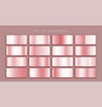 rose gold or pink metallic gradients set vector image