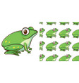 seamless background design with green frog vector image vector image