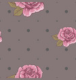 seamless floral pattern with pink roses vector image vector image