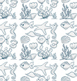 Seamless underwater vector image vector image